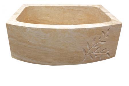 Beige travertine - 1 Bowl