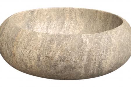 Bague Travertin Silver - Adoucie