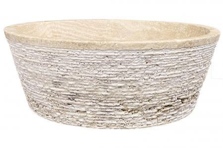 Travertin Beige - Cylindre Conique Striée