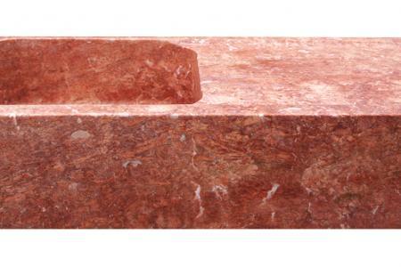 Red travertine - 1 Bowl + 1 drainer